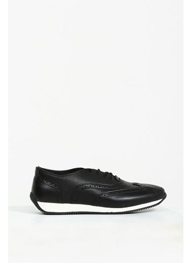 Collezione Siyah Desenli Bağcıklı Erkek Ayakkabı Siyah